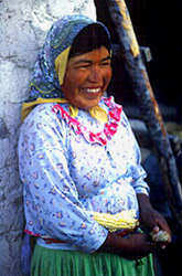 Tarahumara Indian Lady in Mexico's Copper Canyon